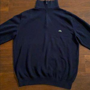 Men's 1/4 zip pullover. Lacoste!